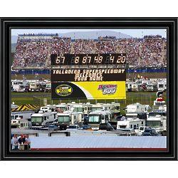 Personalized Talledega Racetrack Scoreboard Print