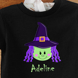 Personalized Lil' Witch Infant T-Shirt