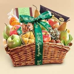 Deluxe Gourmet Foods Sympathy Basket