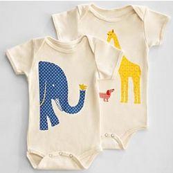 Opposite Animals Baby Bodysuit