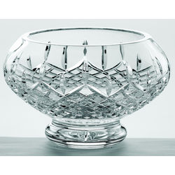 """Galway Crystal 10"""" Longford Footed Bowl"""