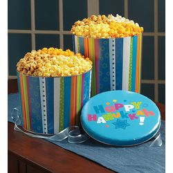 Happy Hanukkah Popcorn Tin