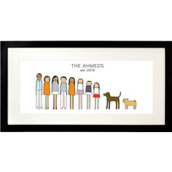 Family Personalized Framed Print