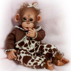 Little Enu Baby Monkey Doll