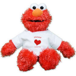 Personalized Heart Elmo Doll