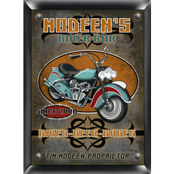 Biker Bar Personalized Pub Sign