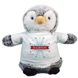 Snowflake Penguin Plush