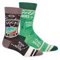 Men's Golf and Sunday Funny Socks