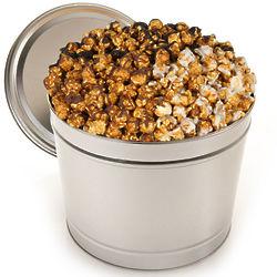 Triple Chocolate Caramel Popcorn in 1 Gallon Tin
