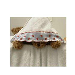 Red Star & Stripe Hooded Towel