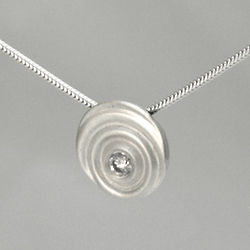 Diamond and Sterling Silver Droplet Pendant