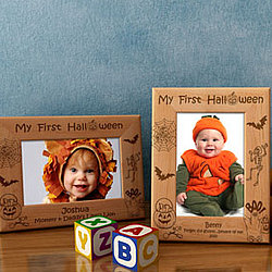 Personalized My First Halloween Wooden Picture Frame