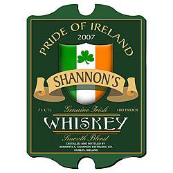 Irish Whiskey Personalized Pub Sign