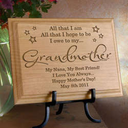 Personalized I Owe Everything To...Wooden Plaque