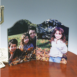 Personalized Photo Double Chromaluxe Arched Panel Set