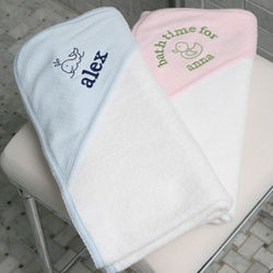 Personalized Hooded Towel & Mitt