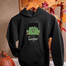 Boy's Personalized Frankenstein Halloween Sweatshirt