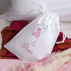 Women's Personalized Drawstring Lingerie Bag