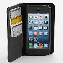 Black Leather iPhone 5 Wallet