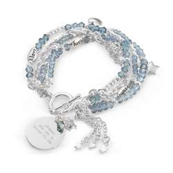 Blue Detachable Charm Bracelets