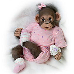 Baby Zoey Poseable Newborn Monkey Doll