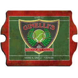 Racquet Club Personalized Vintage Pub Sign