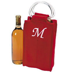 Monogrammed Two Bottle Wine Tote