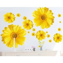 Yellow Chrysanthemum Daisy Flower Sticker Decals