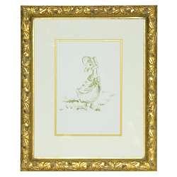 Petit Moi Duck in a Bonnet Framed Print