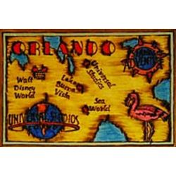 Orlando Map Leather Photo Album