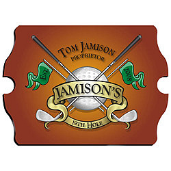 19th Golf Hole Personalized Pub Sign
