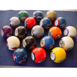 Football Team Billiard Ball Mini Desk Clock