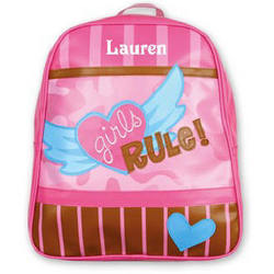 Personalized Girls Rule Go-Go Backpack