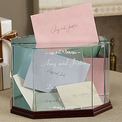Engraved Glass Card and Keepsake Box