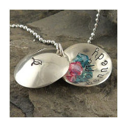 My Sweet Birdy Locket Personalized Hand Stamped Necklace