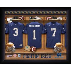 Personalized Notre Dame Fighting Irish Football Locker Room Print