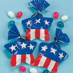 Star-Shaped Bags with Jelly Beans