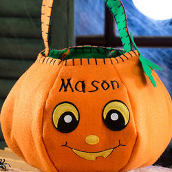 Personalized Halloween Pumpkin Trick or Treat Bag