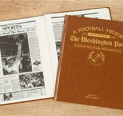 Washington Post's Redskins Personalized Book