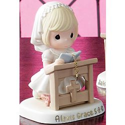 Personalized Communion or Confirmation Girl Kneeling Figurine
