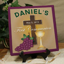 First Communion Personalized Canvas