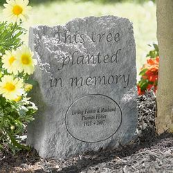 Tree Stone Memorial Plaque