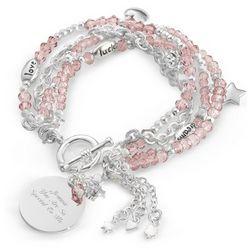 Pink Detachable Charm Bracelets