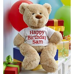 Personalized Happy Birthday Bear