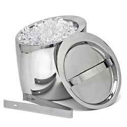 Effortless Elegance Ice Bucket and Tongs