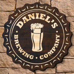 Personalized Bottle Cap Brewery Beer Sign