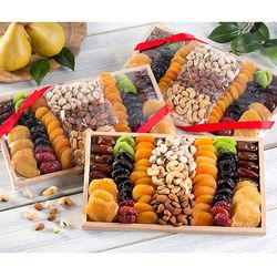 Gourmet Dried Fruit & Nut Collection 3 Pack Gift Boxes