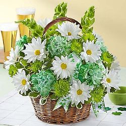 Large St. Patrick's Day Flower Basket