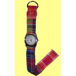 Bright Madras Patchwork Ribbon Style Watch