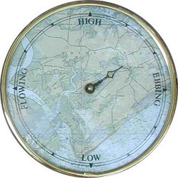 Brass Chart Tide Clock